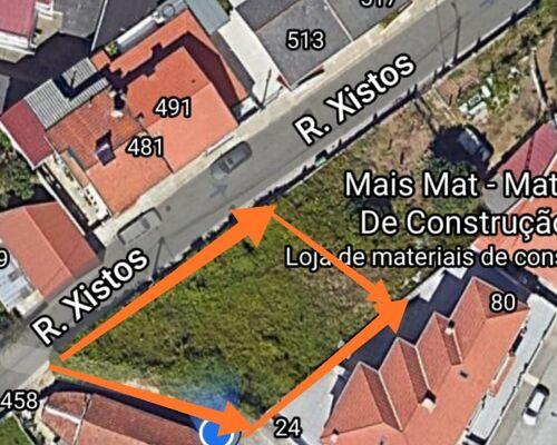 Terreno Urbano para construção com 296 m2 em Fanzeres, Gondomar