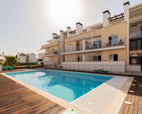 Appartement de 2 chambres en copropriété avec piscine à Santa Luzia à 200 mètres de Ria Formosa