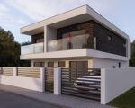 Moradia geminada de 2 pisos, arquitectura contemporânea,  em Fernão Ferro, em construção